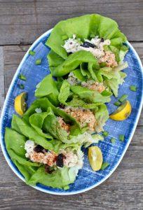 Greek Chicken Salad Cups