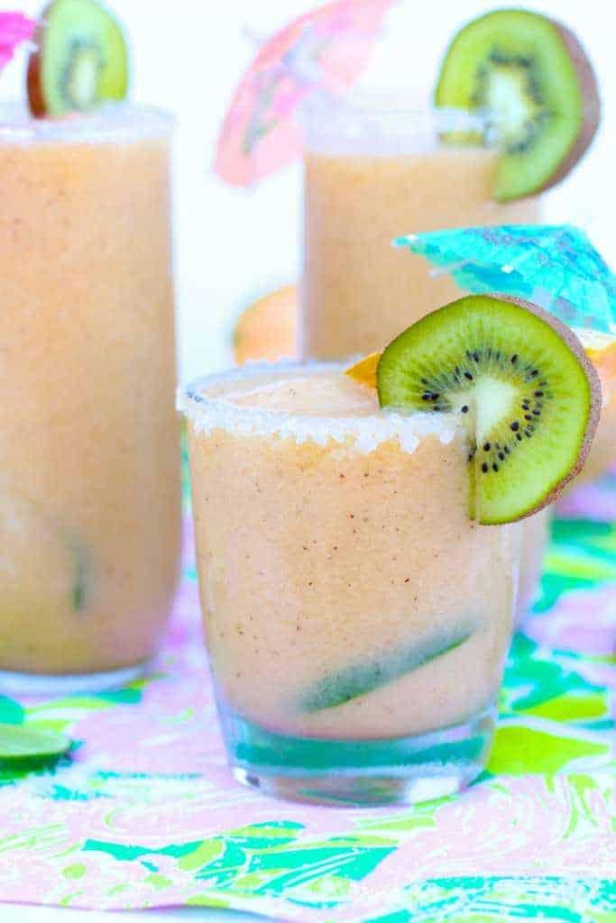 Moscato Melon Kiwi Slushies