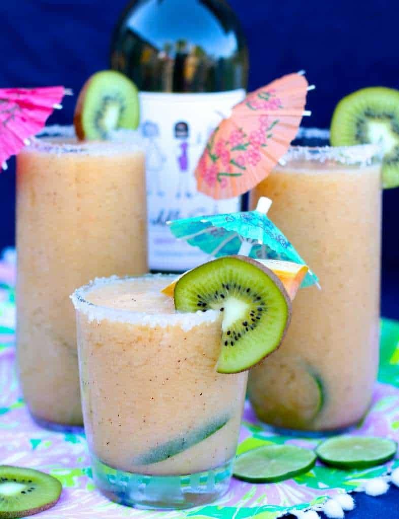 Melon Kiwi Wine Slushies