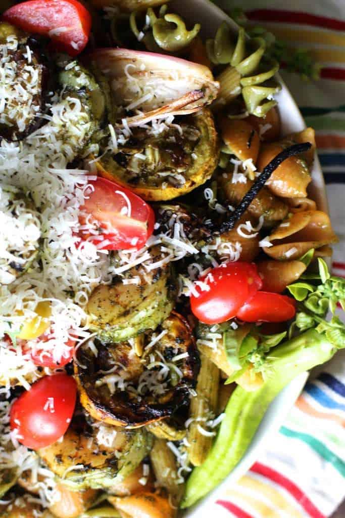 Grilled Veggie and Shrimp Pasta