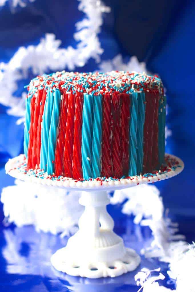 Red Velvet Twizzler Cake