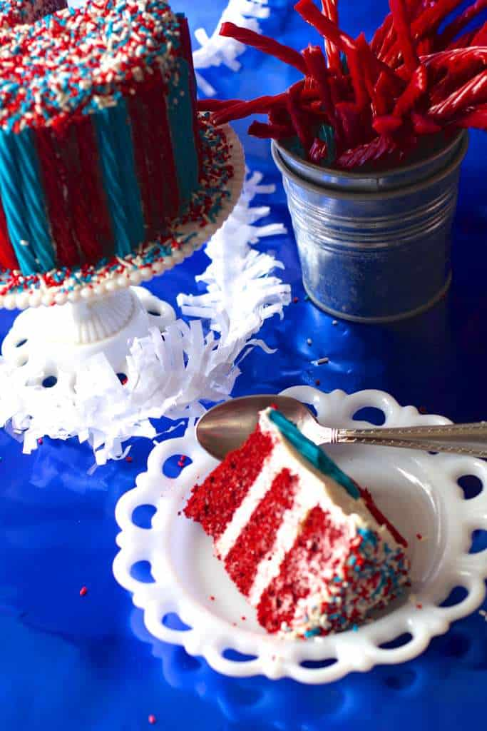 Perfect 4th of July Red Velvet Cake