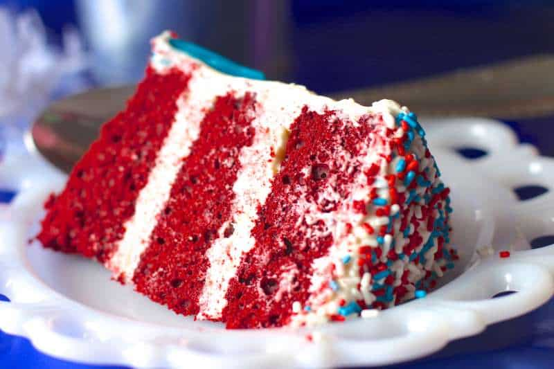 Red Velvet 4th of July Cake