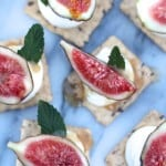 Fig and Mascarpone Cracker Appetizers