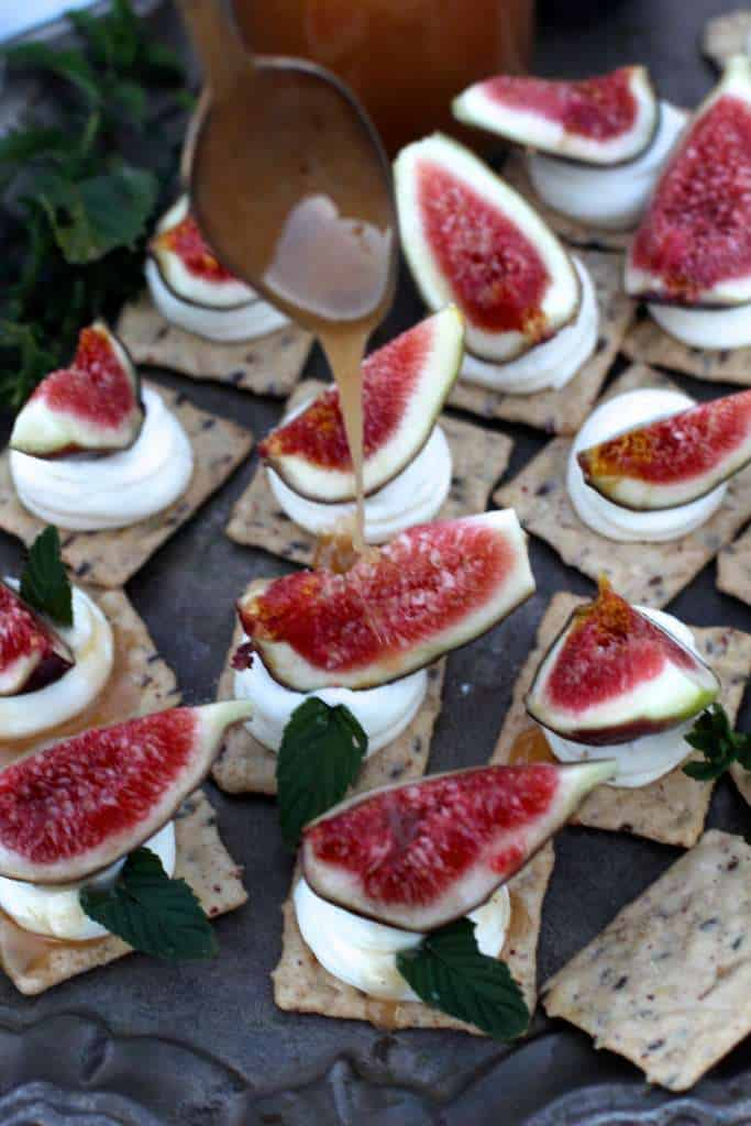 Fig Mascarpone with drizzled honey
