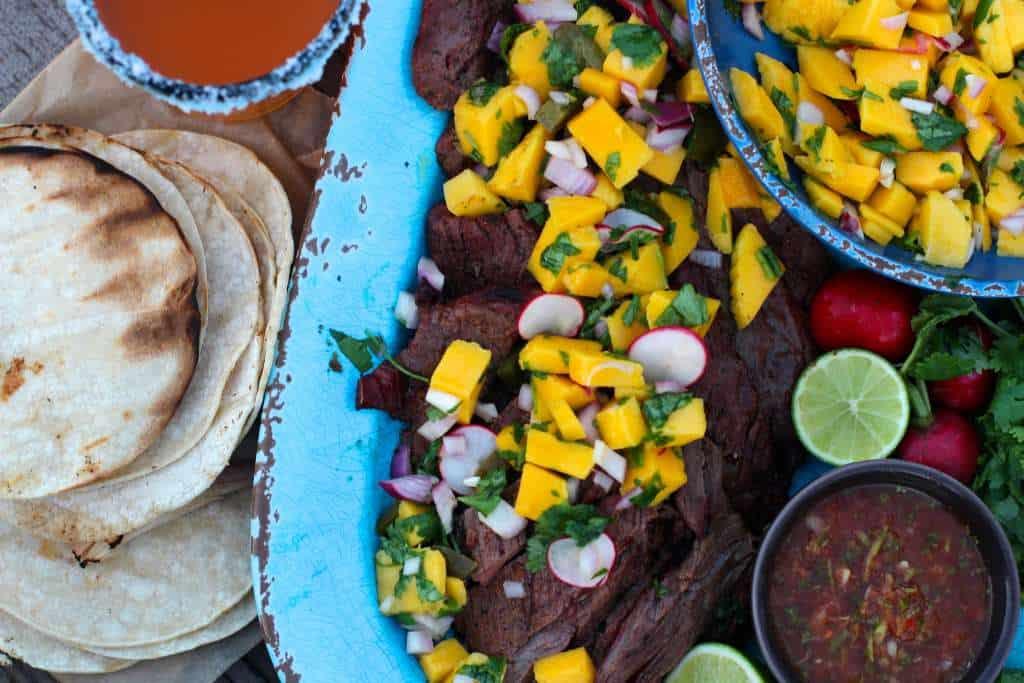 Mango Salsa and Chipotle Steak