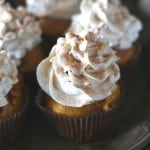 Pumpkin Snickerdoodle Cupcakes with Pumpkin Cream Cheese Frosting