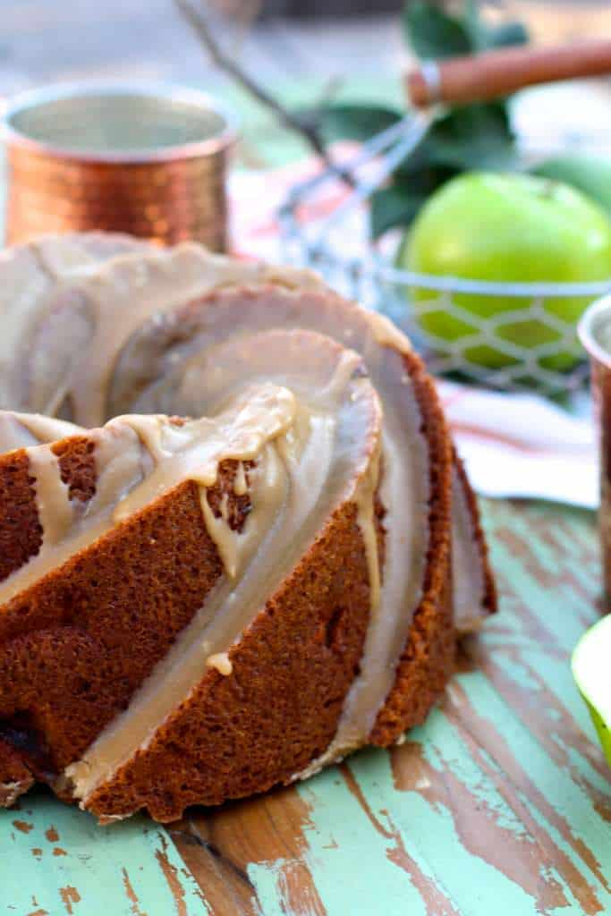 Apple Bundt Cake with Brown Sugar Glaze