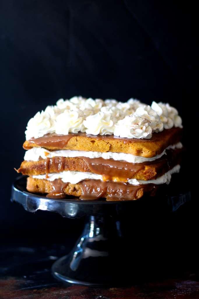 Pumpkin Dulce de Leche Cake