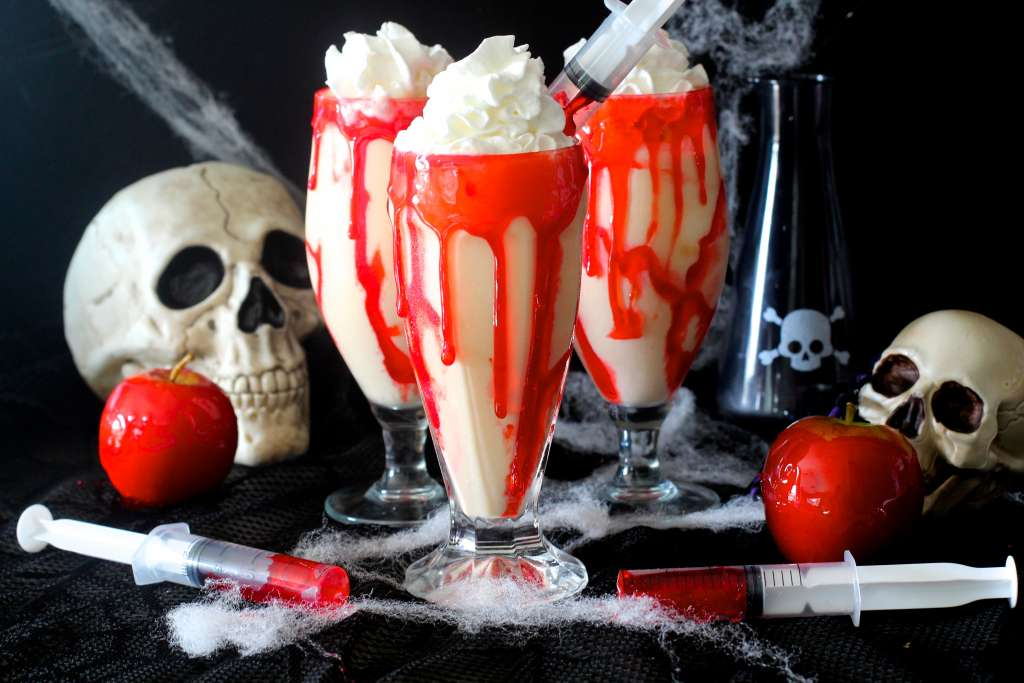 Vampire Apple Pie Milkshakes