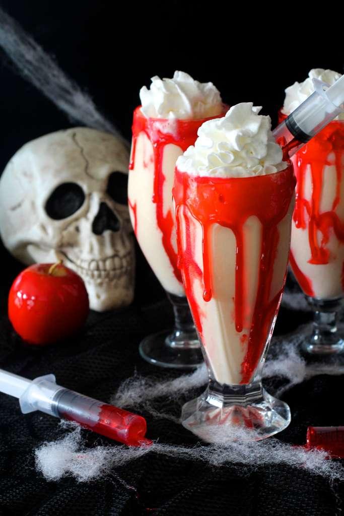 Gory Halloween Milkshakes
