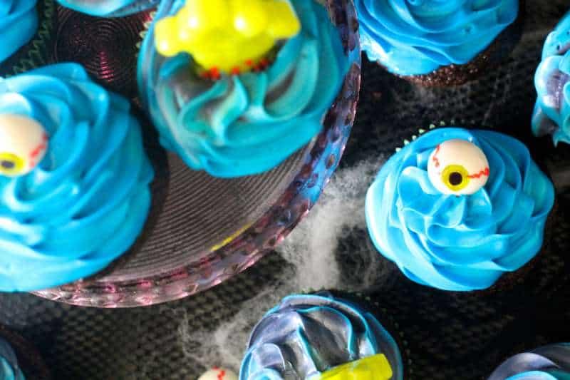 Creepy Halloween Cupcakes