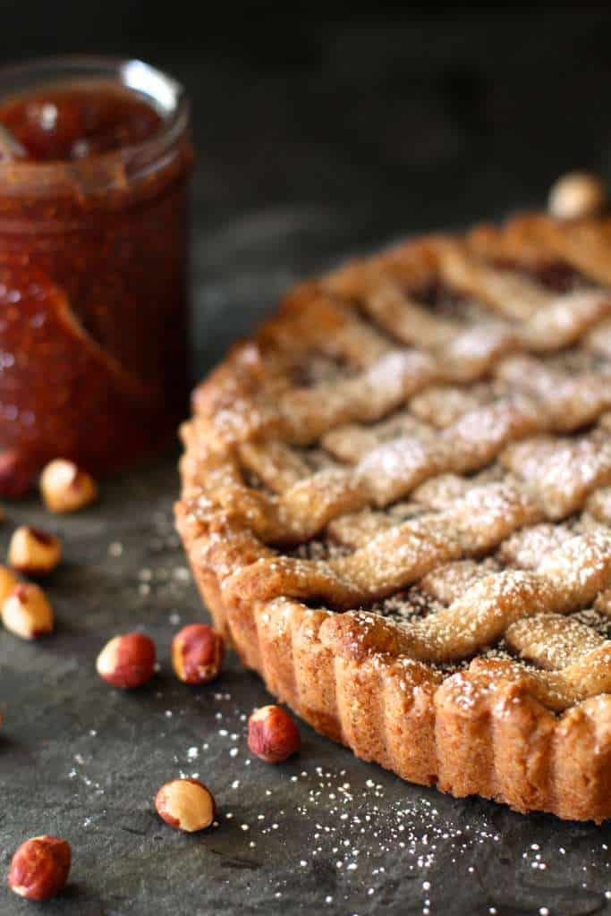 Linzer Torte with Raspberry Filling