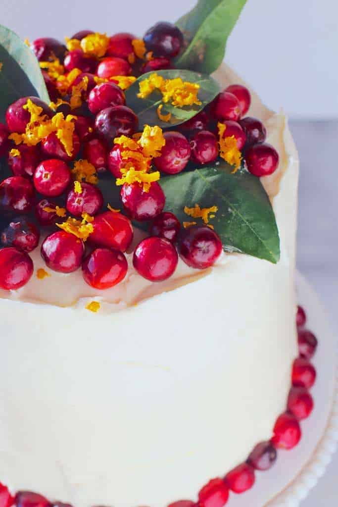 Leftover Cranberry Sauce Orange Cake