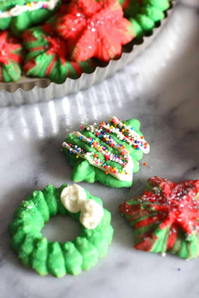 Christmas Spritz Cookies and Sprinkles