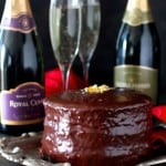 Champagne Ganache Covered Cake
