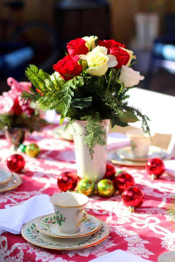 Adult's Christmas Tea Table