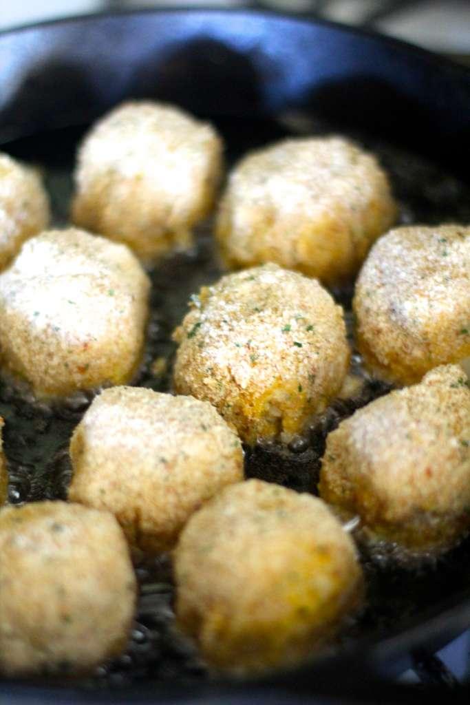 Frying Rice Balls