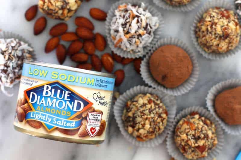 Roasted Almond Chocolate Truffles