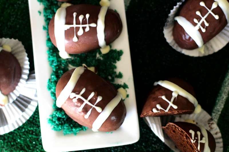 Mini Chocolate Superbowl Cakes