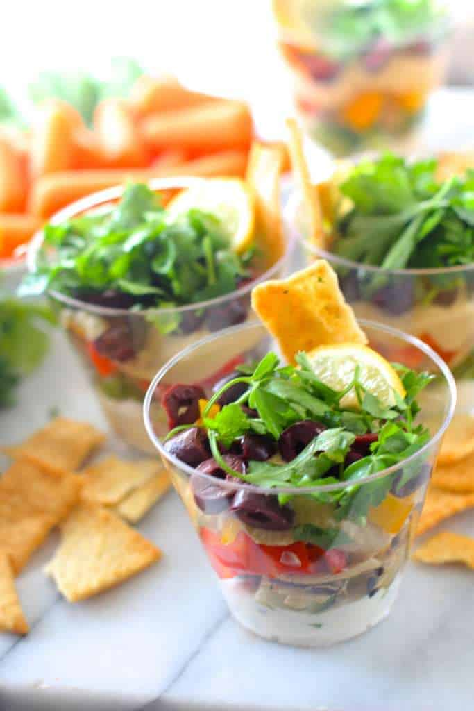 Individual Greek 7 Layer Dip