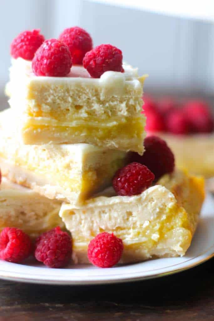 Spring Lemon Cheesecake Bars