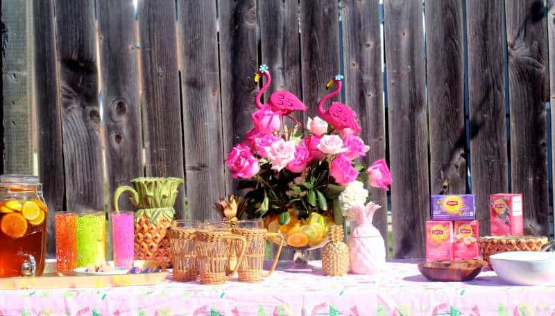 Spa Day Party Tea Table
