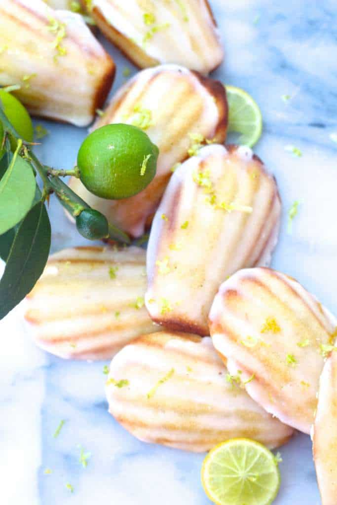 lime lemon Madeleines