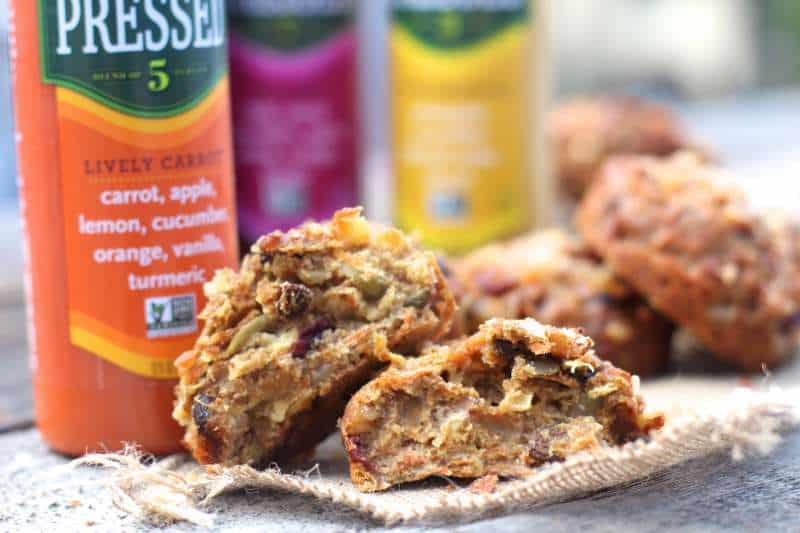 Cold Pressed Juice and Morning Energy Muffin
