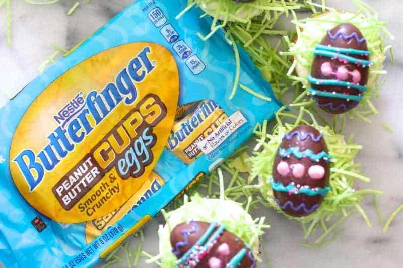 Butterfinger Egg Cupcakes