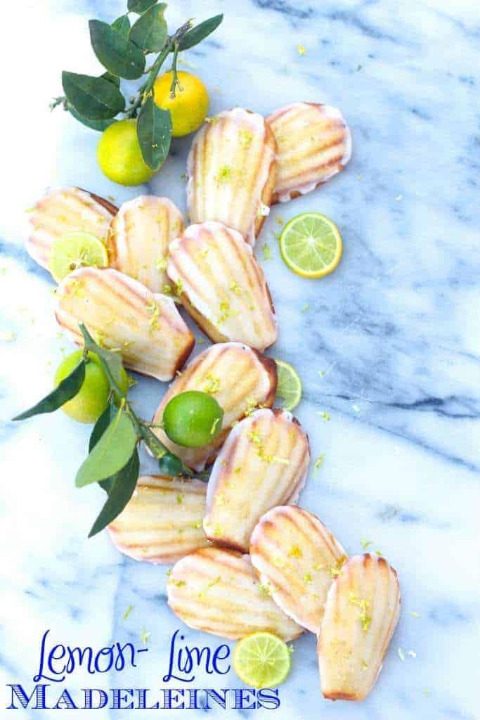 Lemon Lime Madeleines