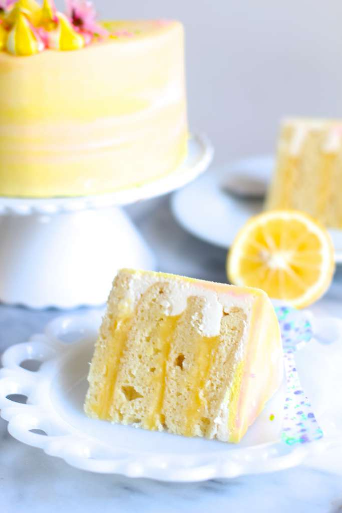 Lemon Curd Cake Slice