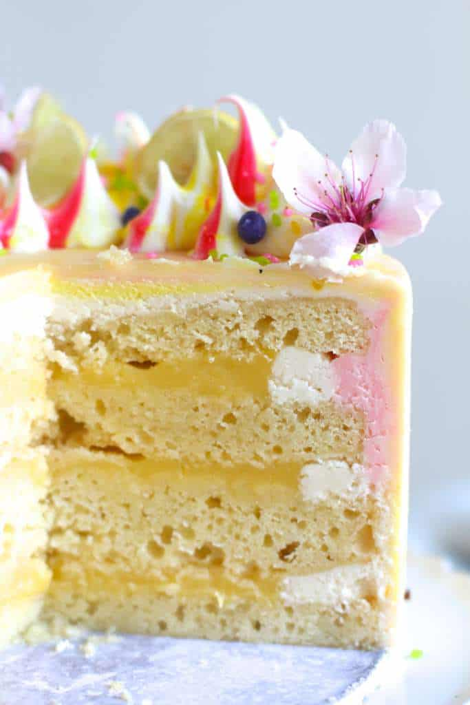 Perfect Spring Lemon Curd Cake