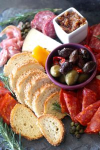 Tapas, Wine, And Chardonnay Red Pepper Eggplant Spread