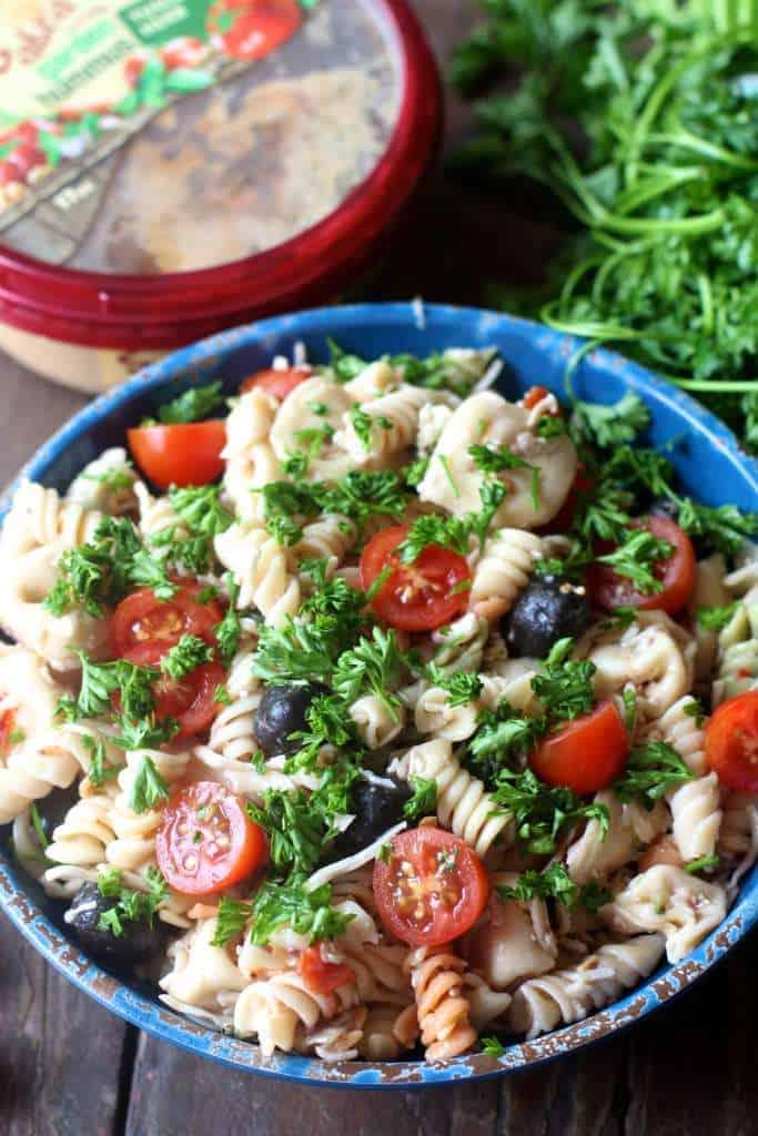 Hummus Pasta Salald