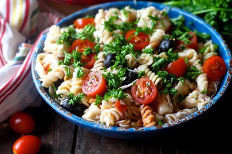 Tuscan Hummus Pasta Salad