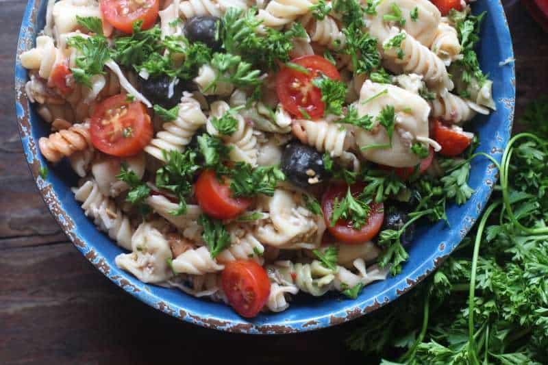 Hummus Pasta Salad