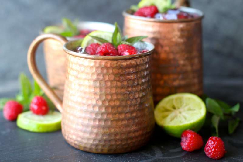 Perfect Fresh Raspberry Moscow Mules
