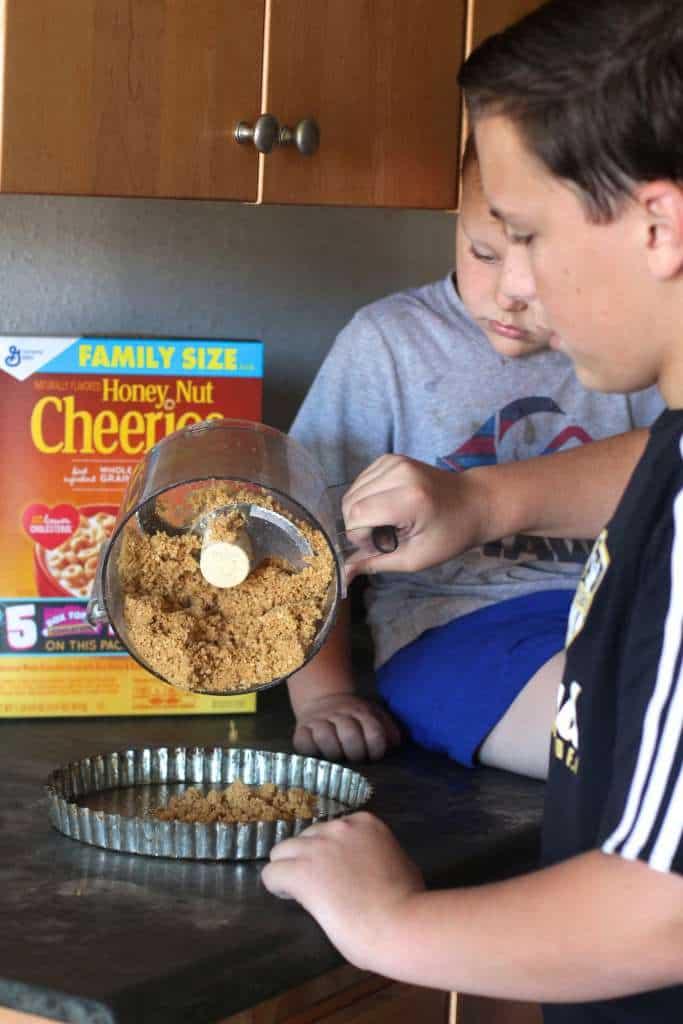 Kids making dessert!