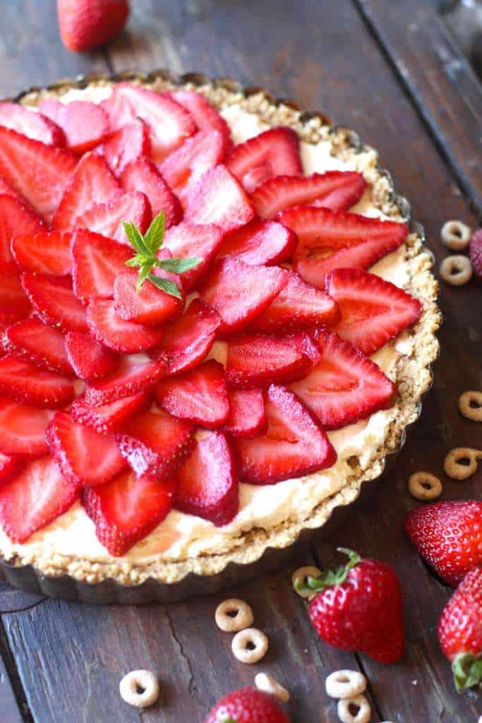 Freshly Picked Strawberry No Bake Cheesecake