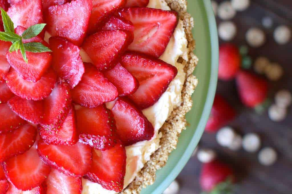 No Bake Fresh Strawberry Cheesecake