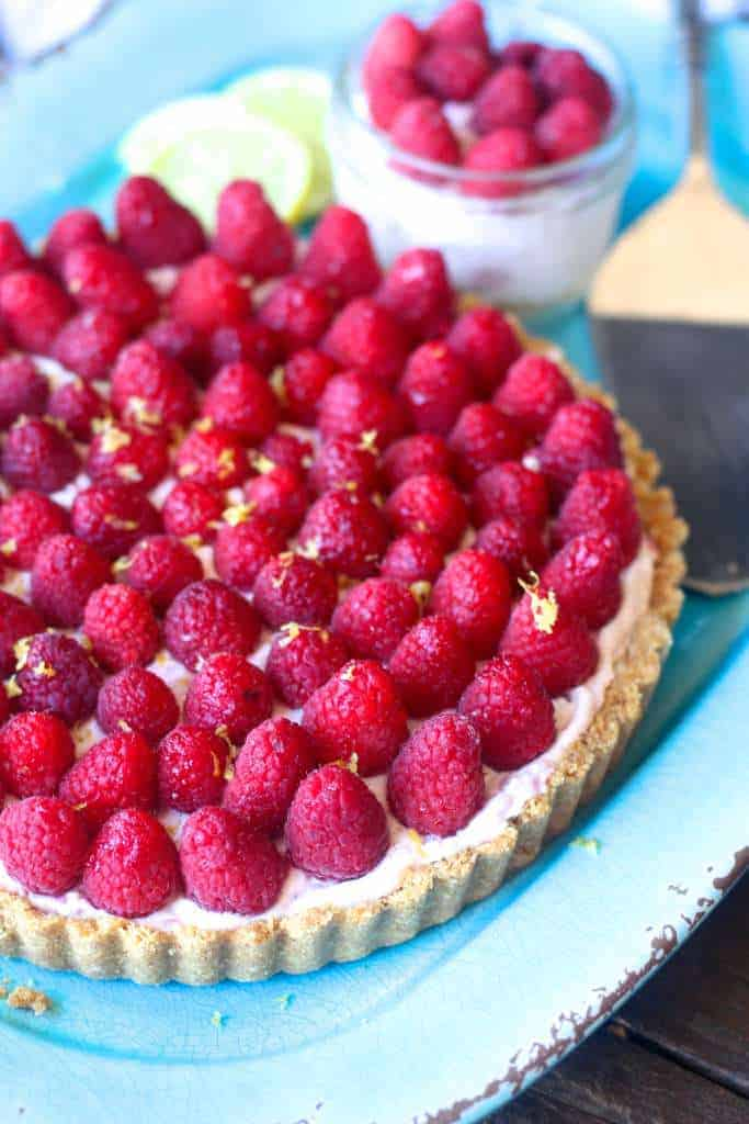 Raspberry No Bake Cheesecake