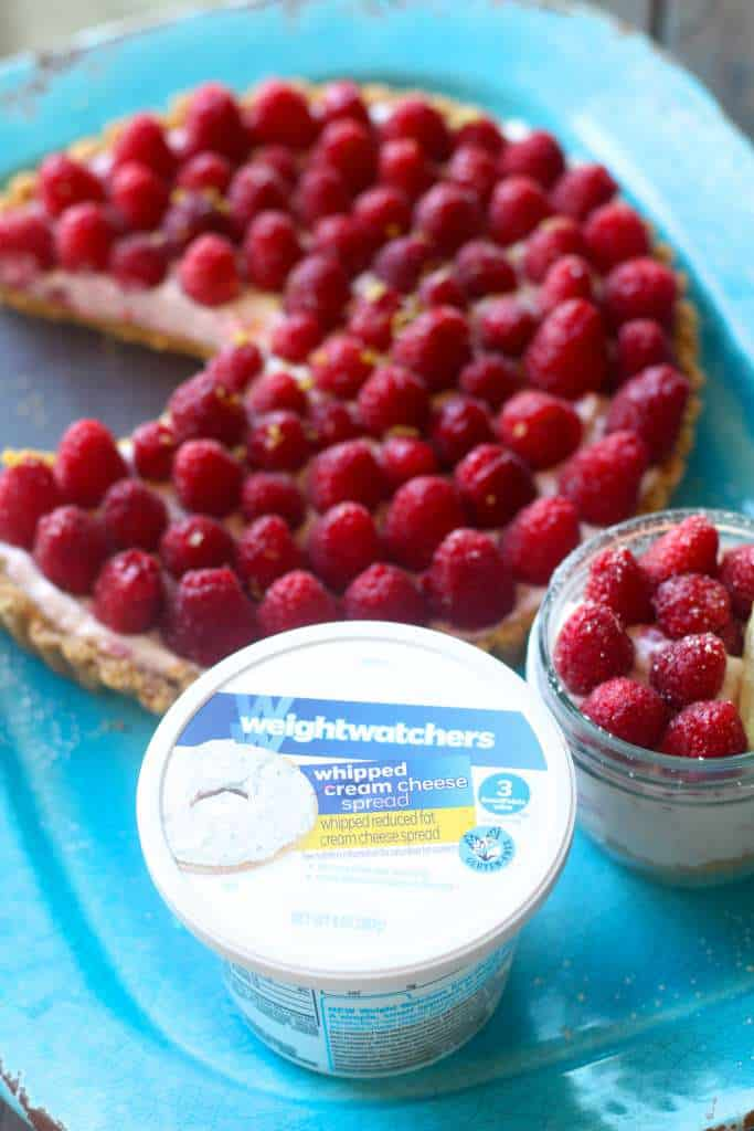 Light and Fresh Raspberry No Bake Cheesecake