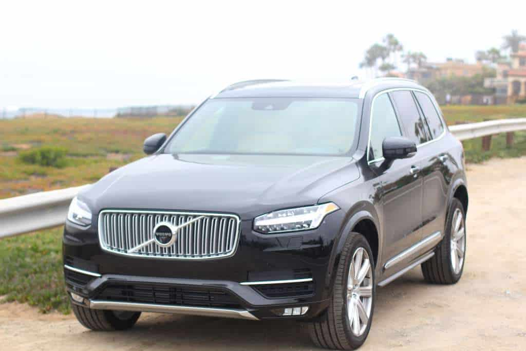 2016 Volvo XC90 alongside road for hand pies cherry picking