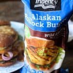Teriyaki Fish Burgers with Tempura Onion Rings