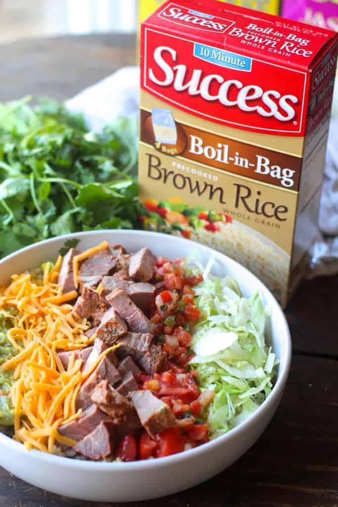 Steak Taco Rice Bowls