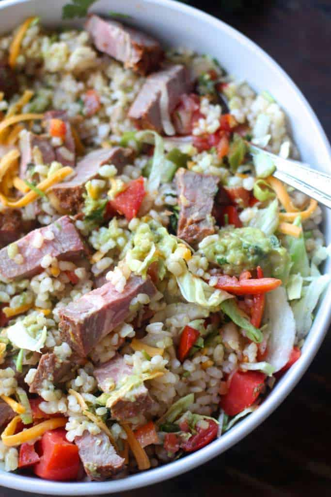 Steak Cilantro Lime Rice Taco Bowls