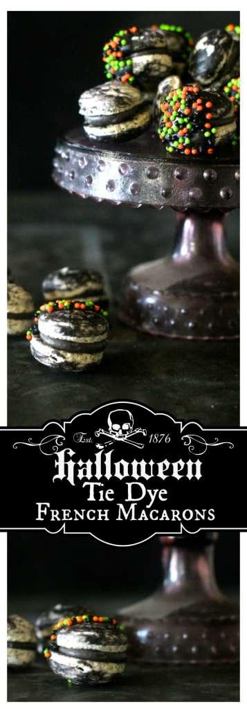 Halloween Tie Dye French Macarons