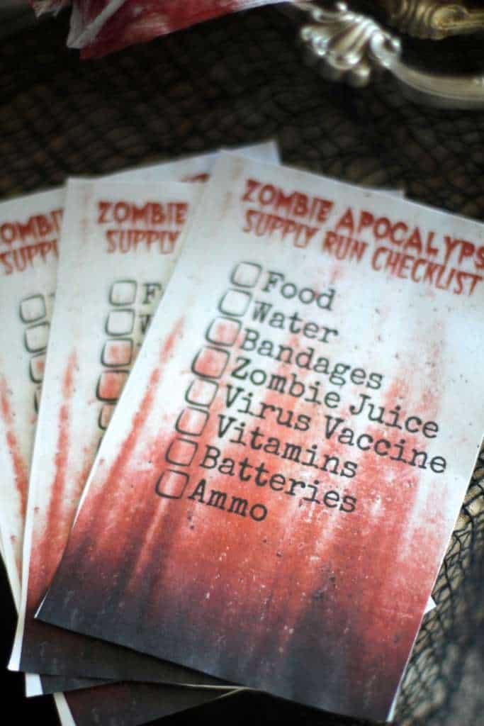 Zombie Scavenger Hunt