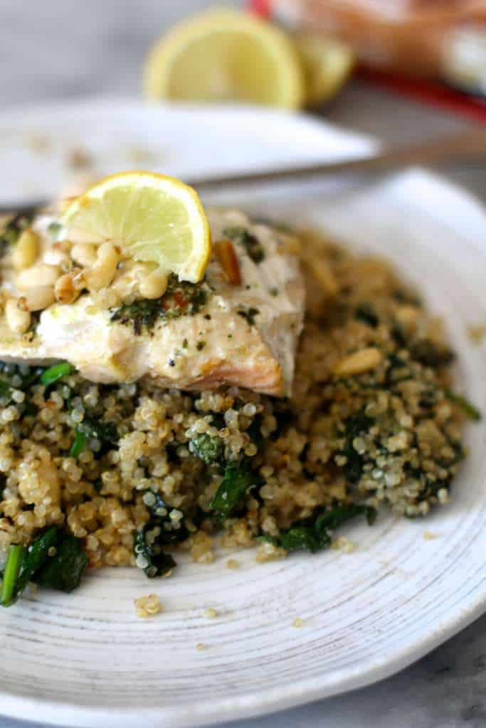 Baked Salmon and Quinoa